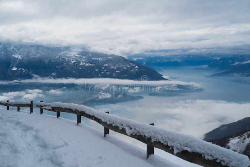 Lago Como nell'inverno fotografia stock libera da diritti