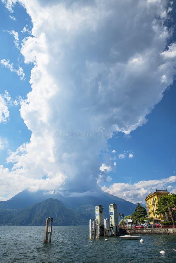 Lago Como Varenna imagem de stock