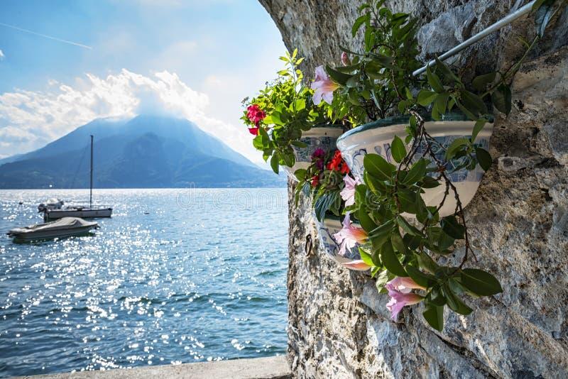 Lago Como Varenna fotos de stock royalty free