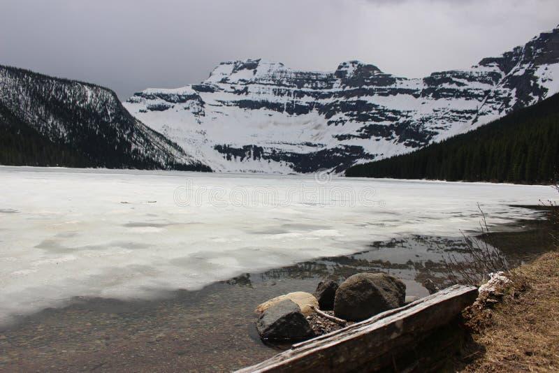Lago congelado fotografia de stock