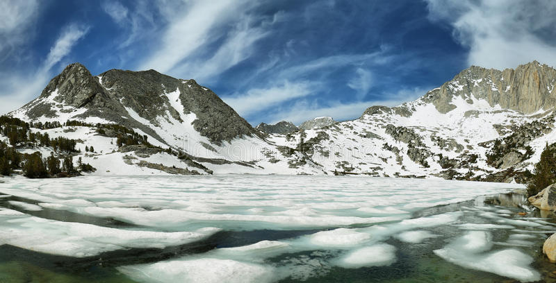 Lago congelado ruby, Califórnia fotografia de stock royalty free