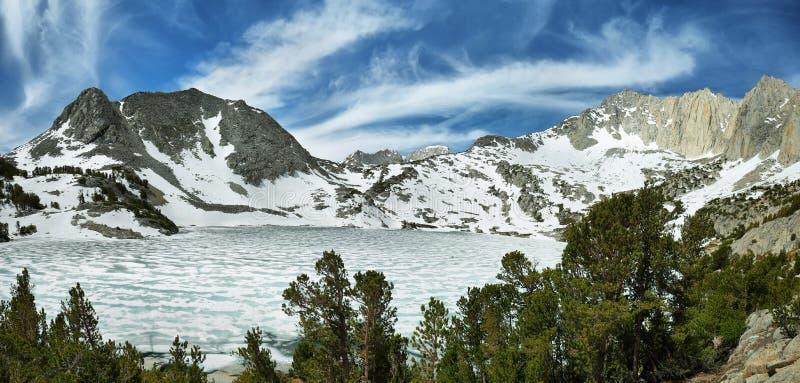 Lago congelado ruby, Califórnia fotografia de stock