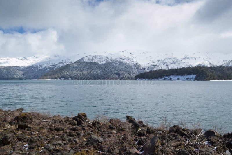 Lago Conguillio immagini stock