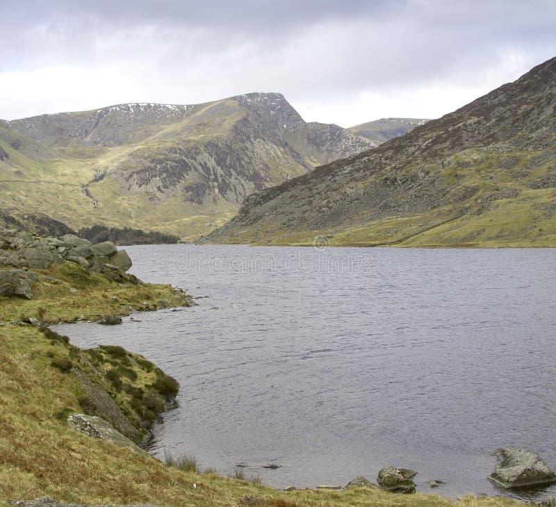 Lago a Conwy nel Galles del nord fotografia stock