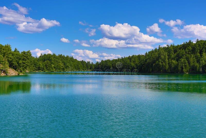 Lago cor-de-rosa cénico no parque de Gatineau fotos de stock royalty free