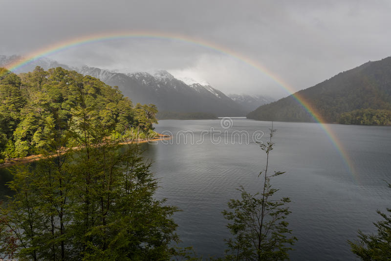 Lago Correntoso dans la province de Neuquen, Argentine images stock