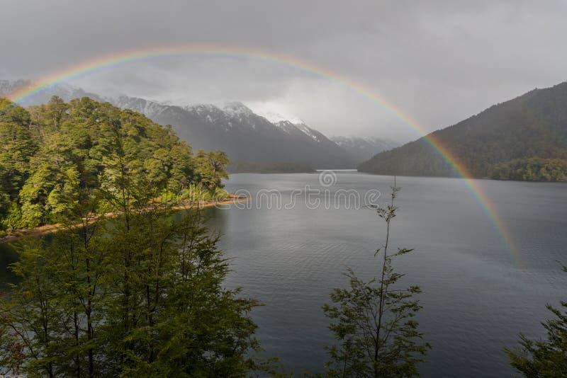 Lago Correntoso in Neuquen-Provincie, Argentinië stock afbeeldingen