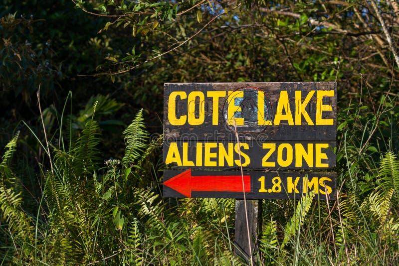 Lago cote, Costa Rica fotografia de stock royalty free