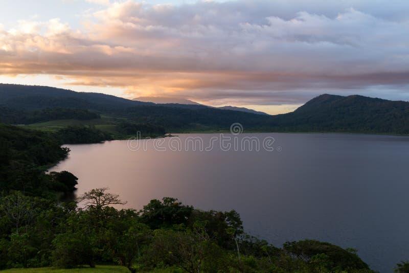 Lago cote, Costa Rica imagens de stock