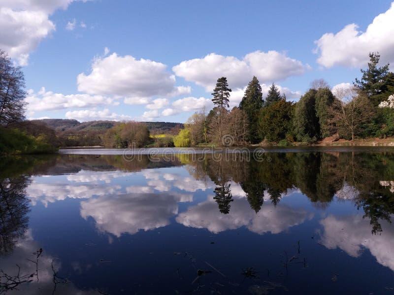 Lago court de Wiltley imagen de archivo libre de regalías