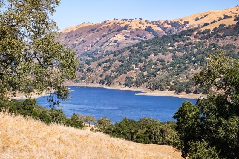 Lago coyote, lago coyote - Harvey Bear Park, área de San Francisco Bay sul, Gilroy, Califórnia foto de stock royalty free