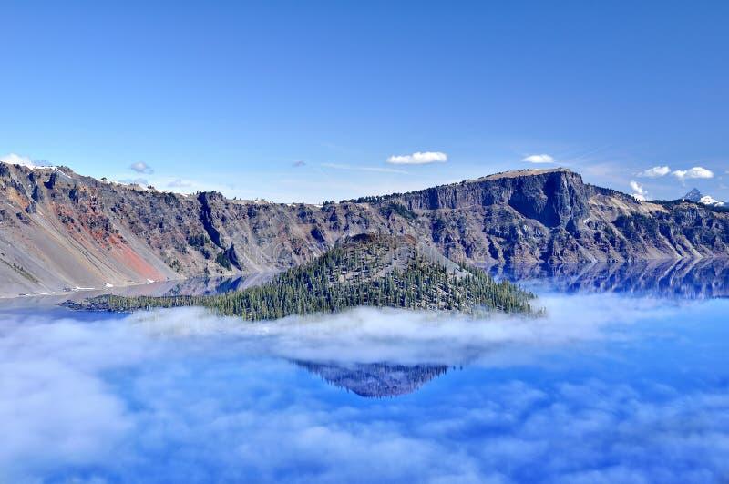 Lago crater imagen de archivo