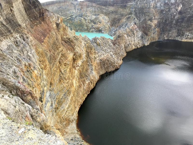 Lago crater de Kelimutu en Ende fotos de archivo
