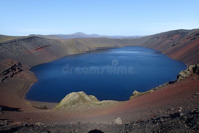 Lago crater in Islanda fotografia stock libera da diritti