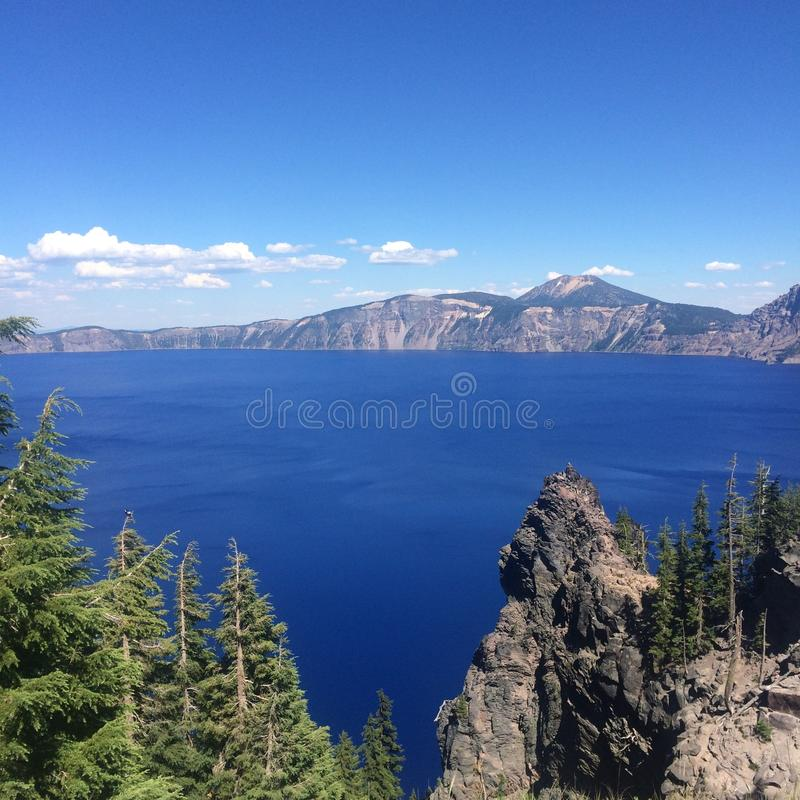 Lago crater nell'Oregon fotografia stock