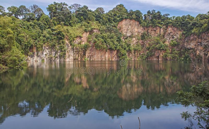 Lago crater no parque de Hindhede fotografia de stock