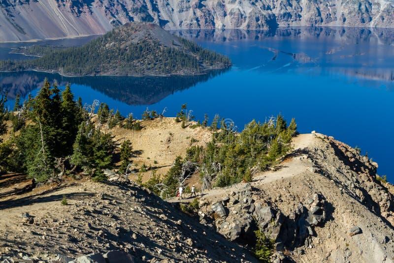 Lago crater, Oregon imagem de stock royalty free