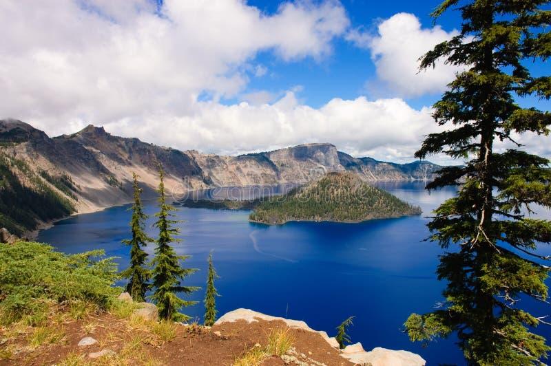 Lago crater, Oregon imagem de stock