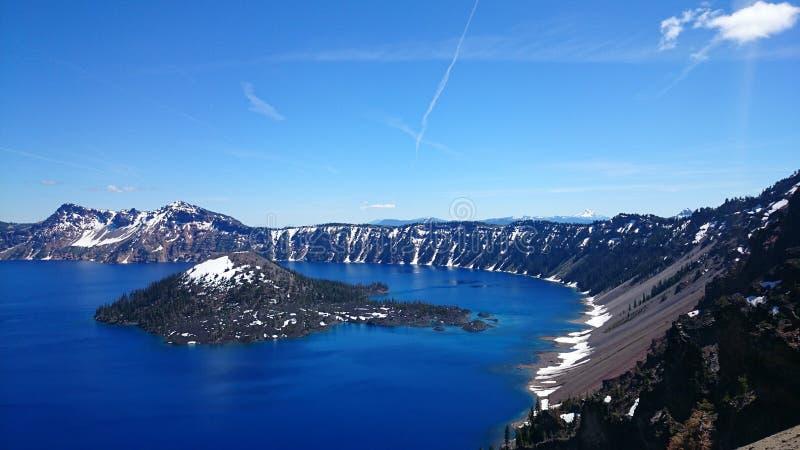Lago crater, Oregon foto de archivo