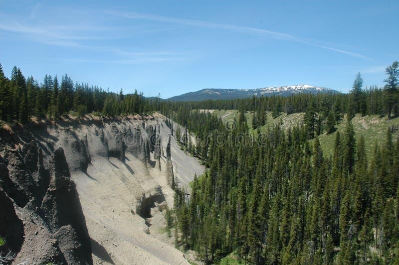 Lago crater, Oregon fotografie stock libere da diritti