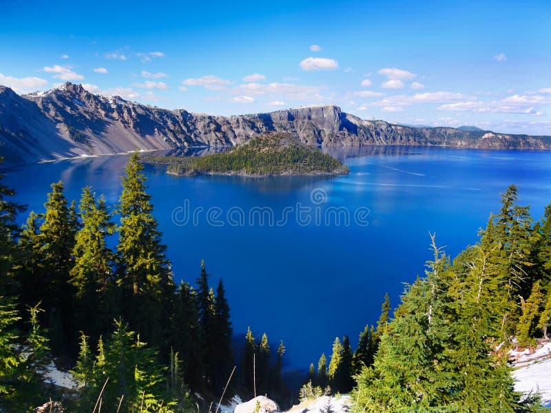 Lago crater, parque nacional, Estados Unidos de Oregon foto de stock royalty free