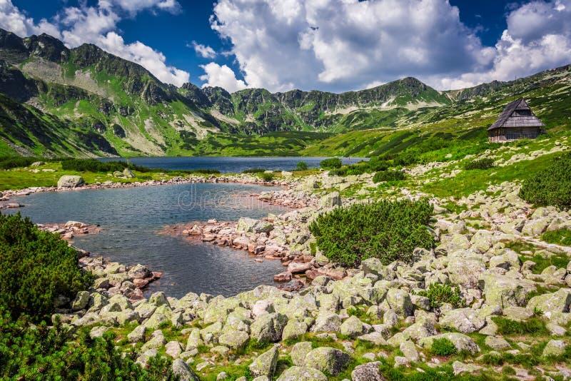 Lago cristalino en las montañas, Polonia fotos de archivo libres de regalías