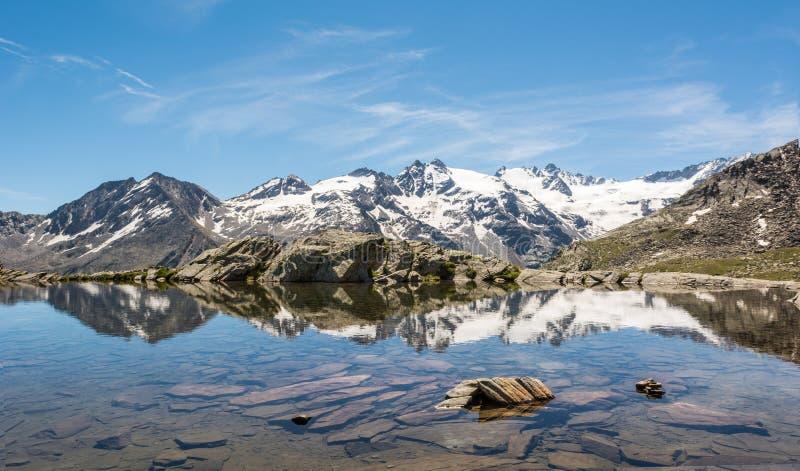 Lago cristallino della montagna fotografie stock libere da diritti