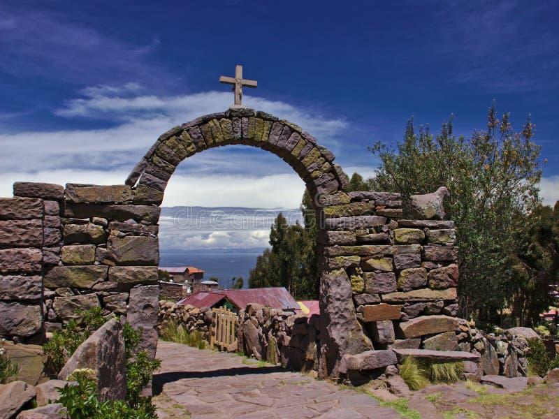 Lago cruzado arch foto de archivo libre de regalías