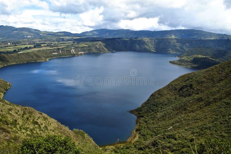 Lago Cuicocha - Ecuador imagen de archivo