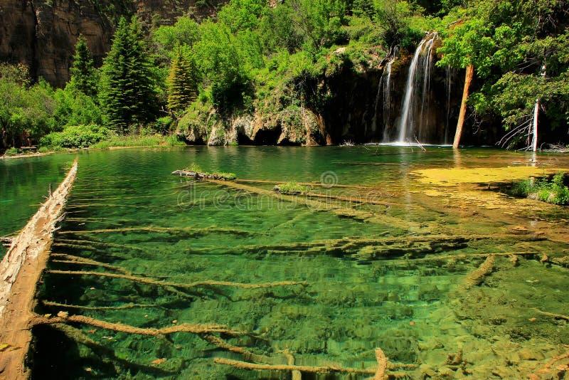 Lago d'attaccatura, canyon di Glenwood, Colorado immagini stock