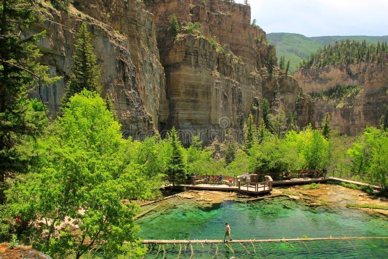 Lago d'attaccatura, canyon di Glenwood, Colorado immagine stock libera da diritti