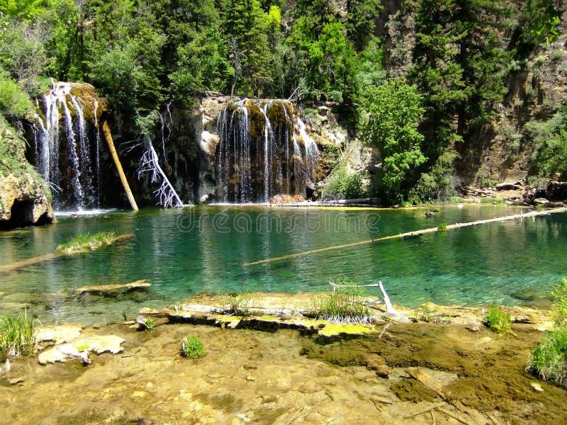 Lago d'attaccatura, canyon di Glenwood, Colorado fotografia stock libera da diritti