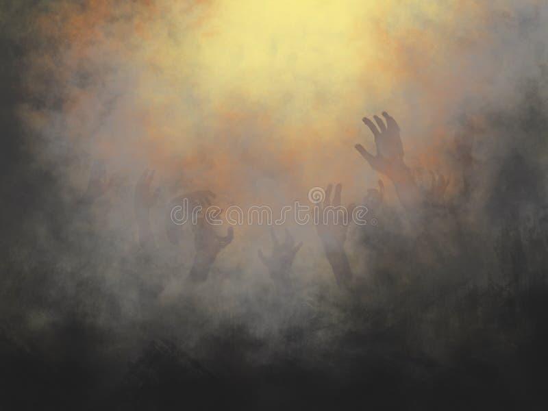 Lago da ilustração do fogo imagem de stock