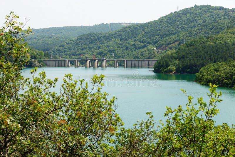 Lago da represa de Ivaylovgrad, Bulgária fotografia de stock