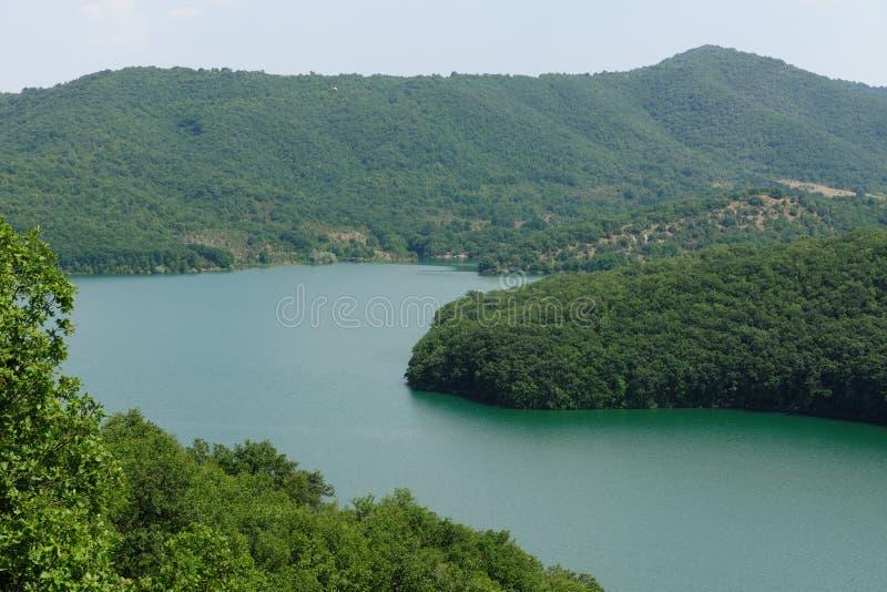 Lago da represa de Ivaylovgrad, Bulgária fotografia de stock royalty free