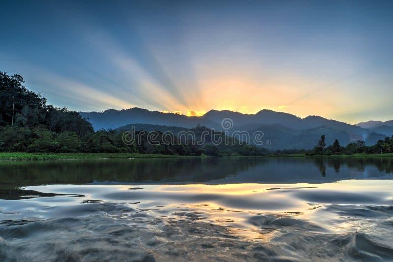 Lago dam de Perting, Pahang, Malásia foto de stock royalty free