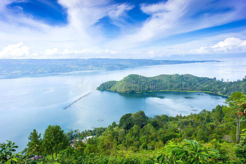 Lago Danau toba fotografia stock
