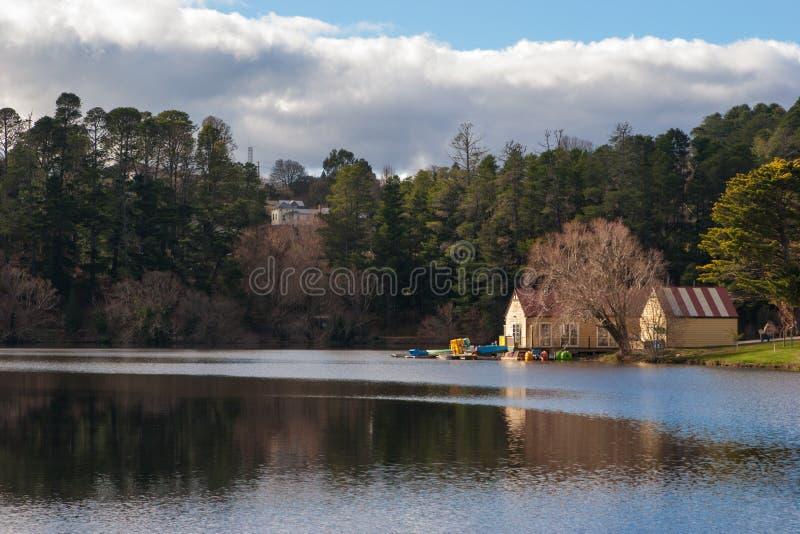 Lago Daylesford, Australia fotos de archivo