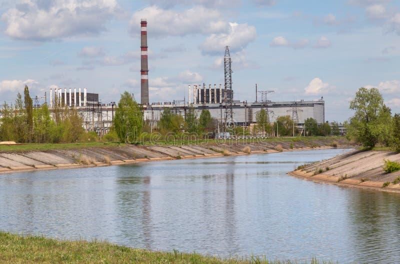 Lago de Chernobyl imagenes de archivo