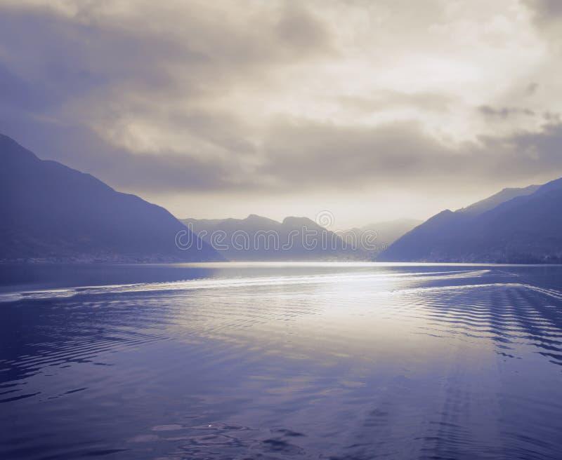 Lago de Como fotografia de stock