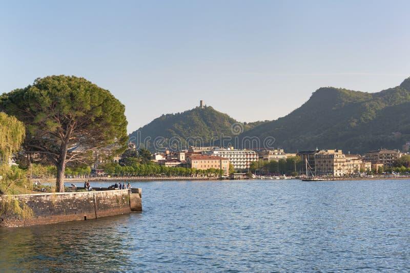 Lago de Como en Como foto de archivo libre de regalías