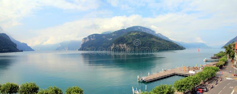 Lago de cuatro cantones, Suiza imagen de archivo