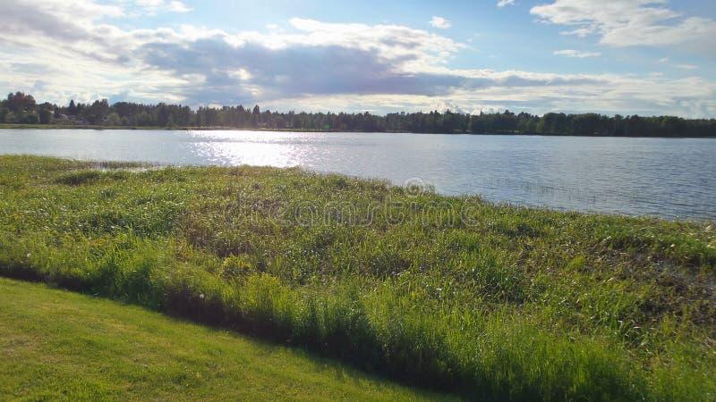 Lago de Finlandia imagen de archivo