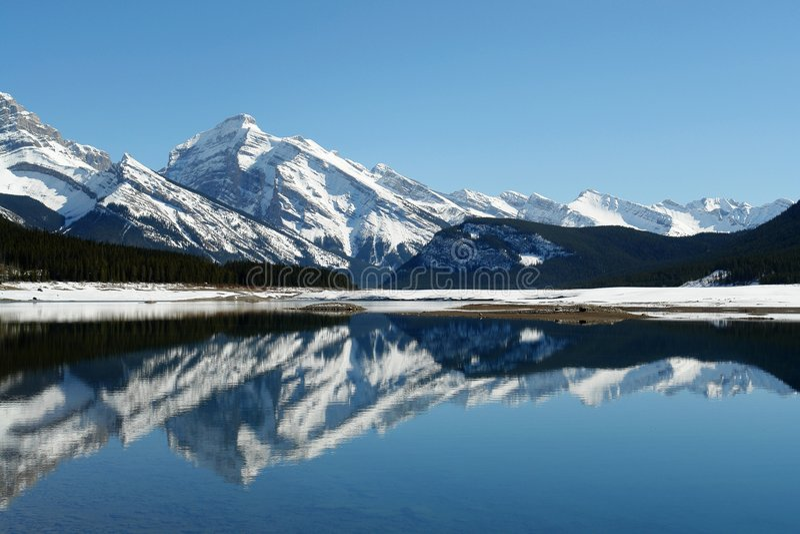 Lago de la montaña del resorte imagen de archivo