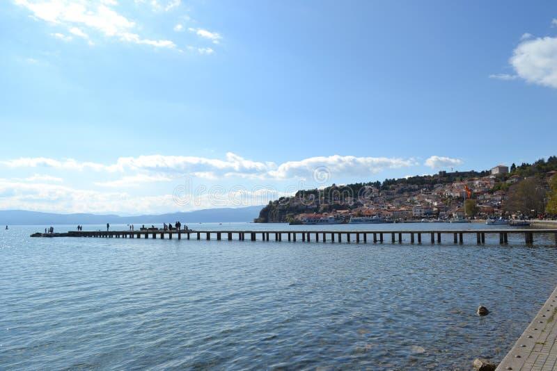 Lago de Ohrid imagens de stock