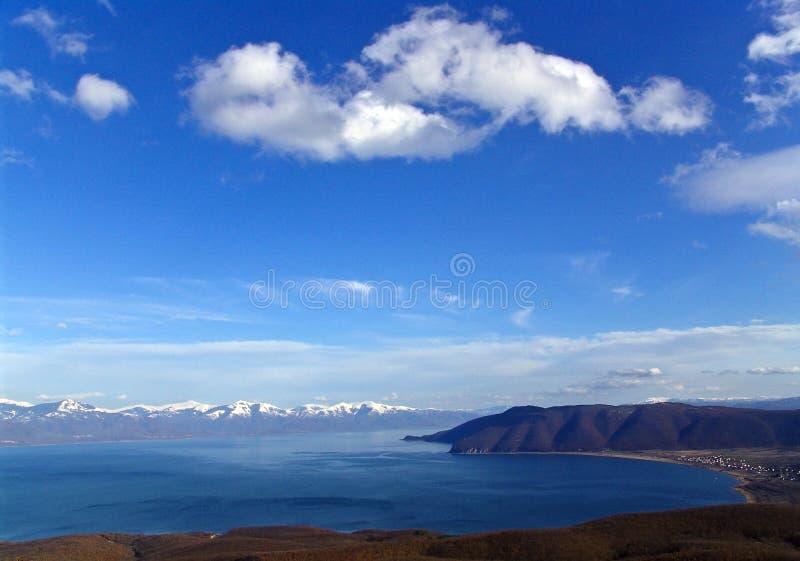 Lago de Prespa imagens de stock royalty free