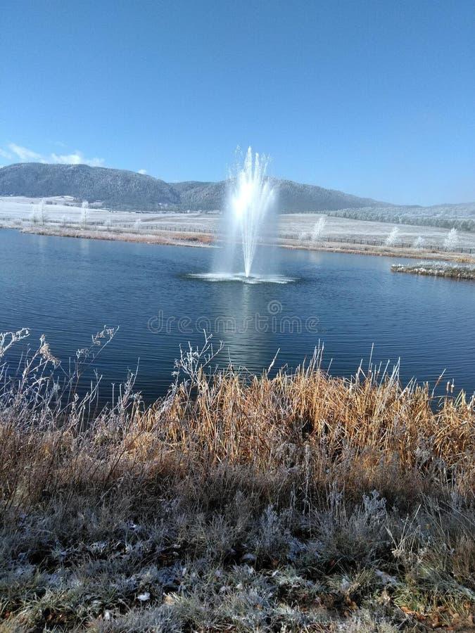 Lago de rociadura imagen de archivo