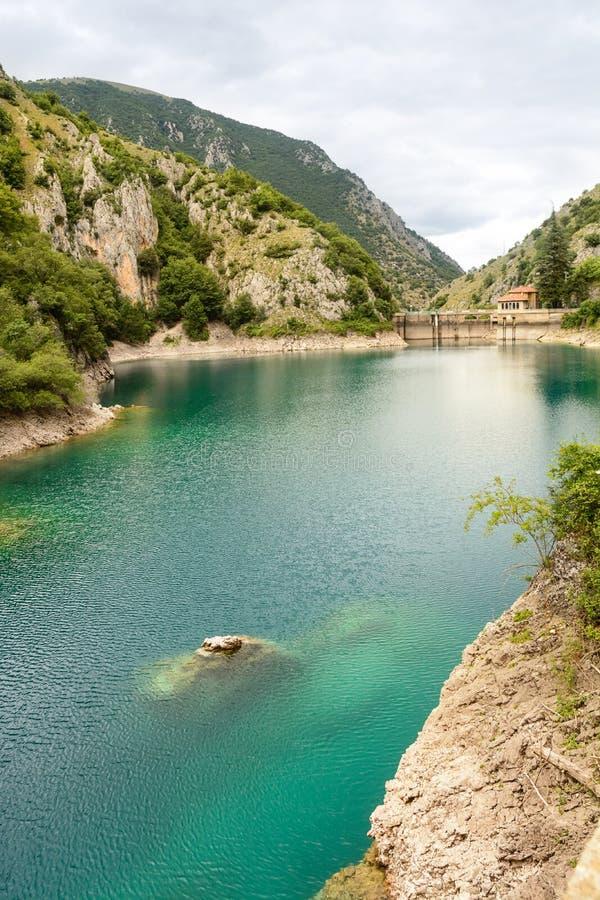 Lago de San Domingo en las gargantas del sagitario imagenes de archivo