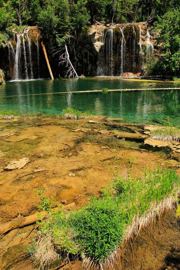 Lago de suspensão, garganta de Glenwood, Colorado imagens de stock