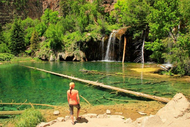 Lago de suspensão, garganta de Glenwood, Colorado foto de stock
